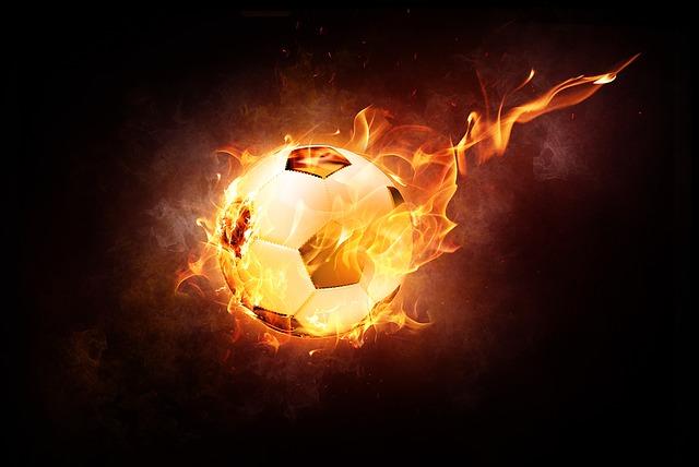 míč v ohni
